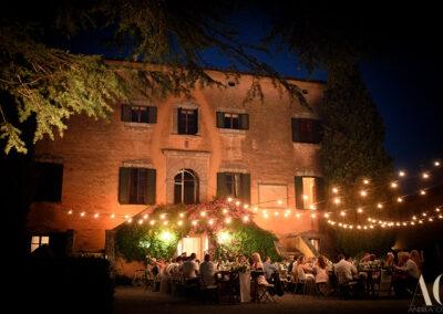 Night view Villa wedding San Gimignano