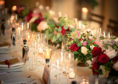 wedding in Tuscany Reception table
