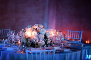 wedding table centerpiece flowers Tuscany