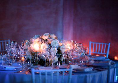 wedding table centerpiece flowers Tuscany