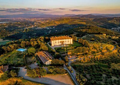 Villa Medici Aerial view fabulous wedding in Tuscany