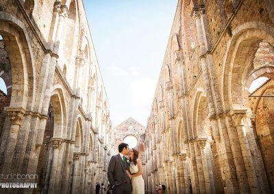 Wedding San Galgano Roofless Abbey catholic wedding