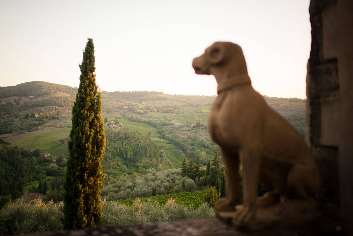 Wedding in Chianti view from vignamaggio photo Corsi