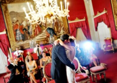 Wedding in Florence the red room palazzo vecchio