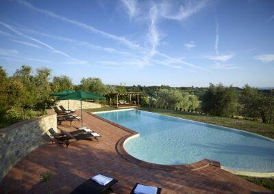 wedding borgo with pool in chianti
