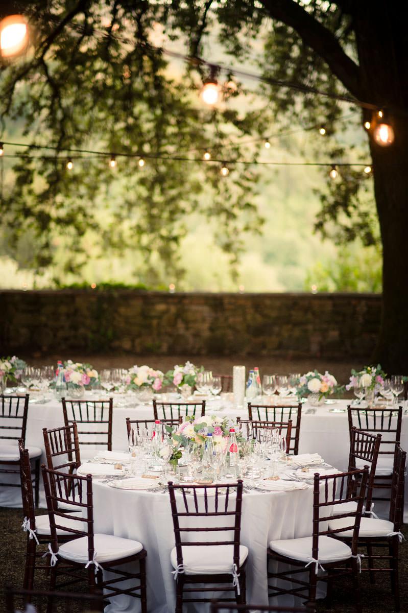 Wedding Tables at Vignamaggio Andrea corsi